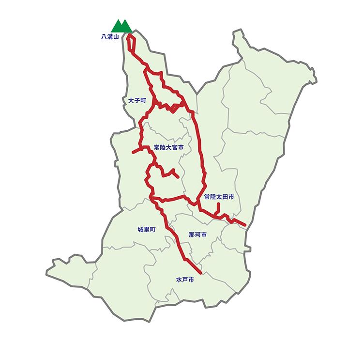 奥久慈里山ヒルクライムルートマップ